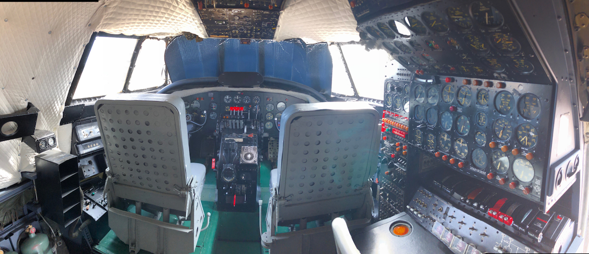 The flight deck of the Super Constellation following its restoration. (Qantas Founders Museum)
